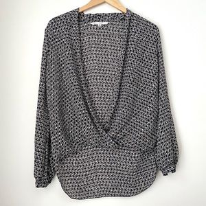 Patterned Max Studio Wrap Style Top